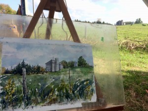 Plein Air - Neighbours Farm - Walters Falls